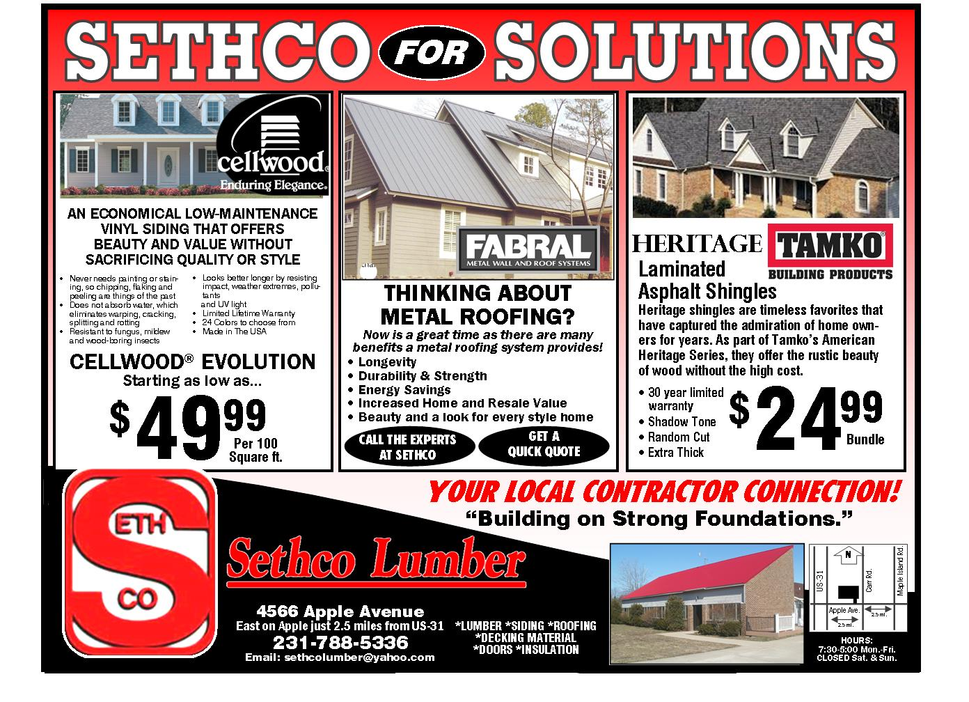 Roofing and Siding Sale